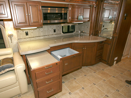 Galley Area - Opened Workstation